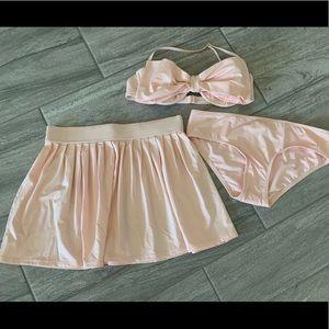 Kate Spade Georgica Bikini Skirt XL new 3pc swim